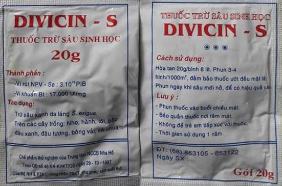 Thuốc trừ sâu sinh học Vicin - S/ Divicin - S