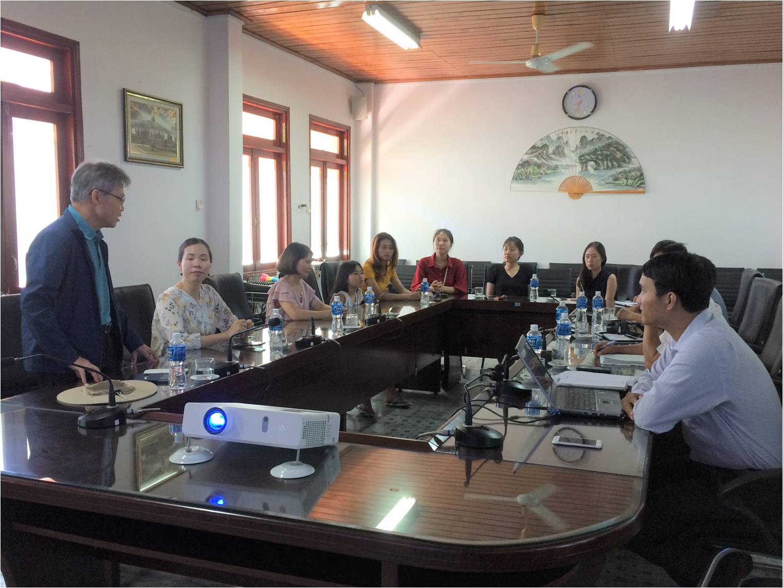 Đoàn chuyên gia Dự án nông nghiệp quốc tế của Hàn Quốc tại Việt Nam đến thăm và làm việc tại Viện Nghiên cứu Bông và Phát triển nông nghiệp Nha Hố
