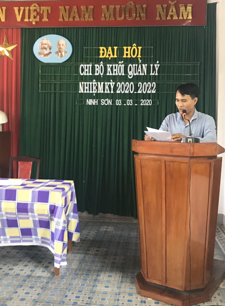 Đại hội Chi bộ Khối quản lý nhiệm kỳ 2020 – 2022