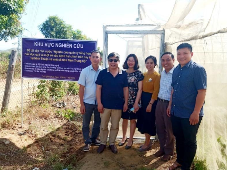 """Kiểm tra tiến độ nhiệm vụ khoa học công nghệ: """"Nghiên cứu quản lý tổng hợp ruồi đục quả và một số sâu bệnh hại chính trên cây táo tại Ninh Thuận và một số tỉnh Nam Trung bộ"""""""