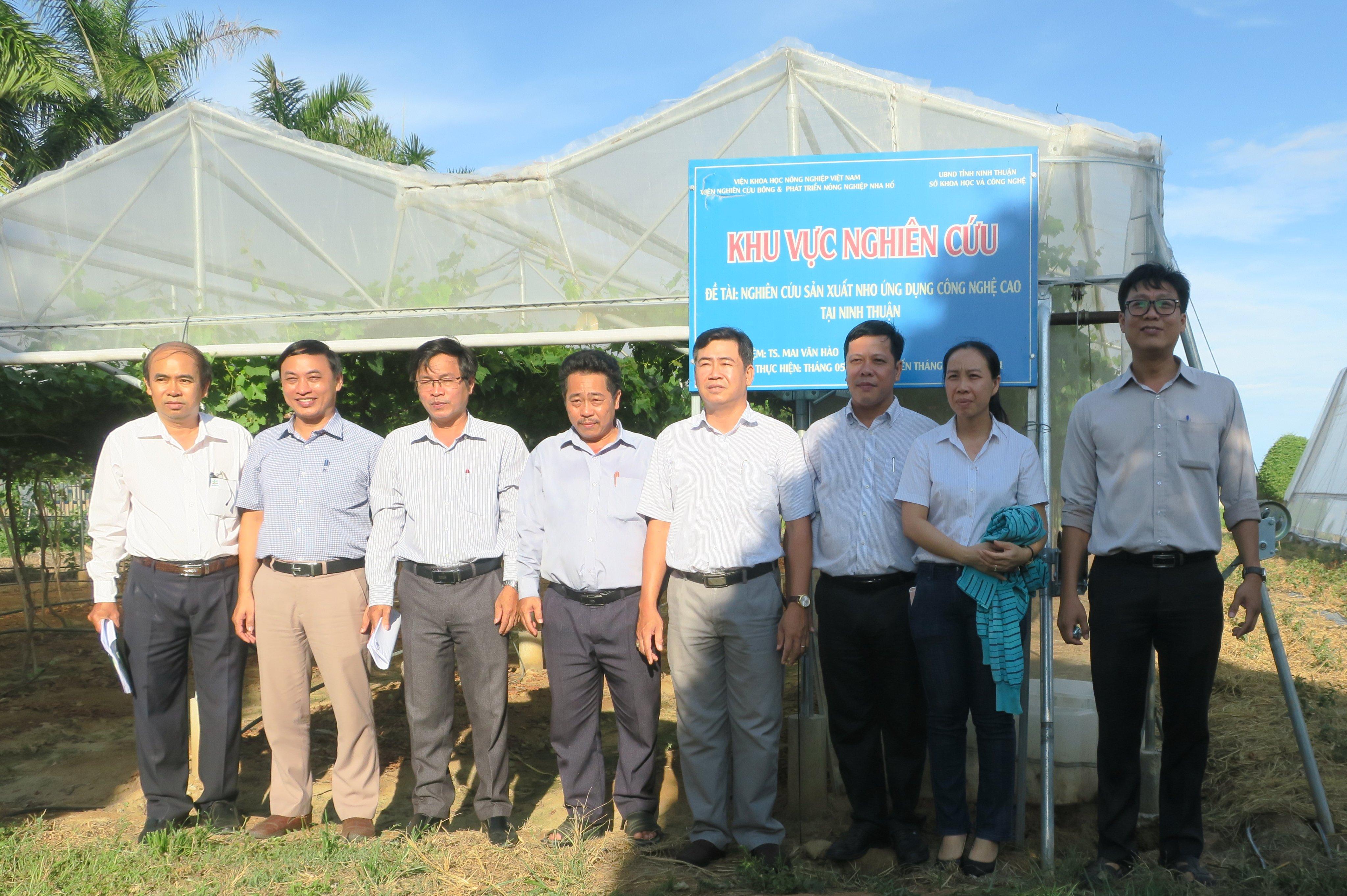 Đoàn công tác Sở Khoa học & Công nghệ Ninh Thuận thăm và làm việc với Viện Nghiên cứu Bông & Phát triển Nông nghiệp Nha Hố