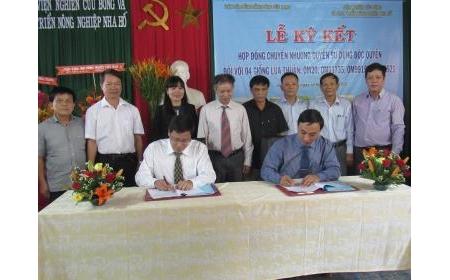 Lễ ký kết Hợp đồng chuyển nhượng quyền sử dụng độc quyền đối với 4 giống lúa thuần: OM20, OM11735, OM9915 và OM9921