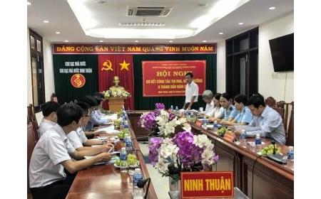 Hội nghị sơ kết công tác thi đua khen thưởng 6 tháng đầu năm 2019 của Khối thi đua các Cơ quan Trung ương tỉnh Ninh Thuận