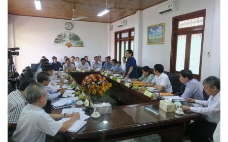 Thứ trưởng Lê Quốc Doanh cùng đoàn công tác của Bộ Nông nghiệp và Phát triển nông thôn làm việc với UBND tỉnh Ninh Thuận