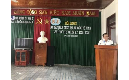 Hội nghị học tập, quán triệt Nghị quyết Đại hội Đảng bộ tỉnh Ninh Thuận lần thứ XIV, nhiệm kỳ 2020-2025.